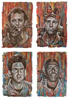 Title:  Ghostbusters set of 4 prints. - Ray, Peter, Egon and WinstonSize: Each print is 16