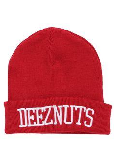 Deez Nuts - Logo Premium Classic Red - Long Beanie im Impericon Shop - Innerhalb von 24 Stunden versandfertig - 30 Tage Rückgaberecht