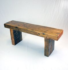 Reclaimed Fir Timber Frame Bench by JonathanJanuary on Etsy