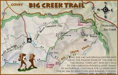 photos of hiking trail maps | Smoky Mountain Hiking - Big Creek Hiking Trail - Mouse Creek Falls ...