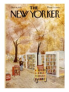 I want to hang a collection of New Yorker covers on my wall.