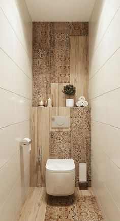Home Home Decor Flooring Bathroom Design Toilet Toilet seat Tile Property Toilet Room Decor, Small Toilet Room, Guest Toilet, Small Toilet Design, Washroom Design, Bathroom Design Luxury, Modern Bathroom Design, Wall Tiles Design, Modern Design