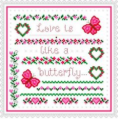 Butterfly Cross Stitch Patterns | keywords butterfly more designs by cathy bussi butterfly love 114 x ...