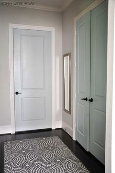 Painted mudroom doors