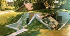 """Sticks and Stones house, an earth sheltered house in minneapolis MN featured in the book """"Earth Sheltered Homes : plans and designs"""" by the University of Minnesota's underground space center. One of my personal favorites!"""