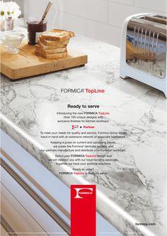 Campaña europea en revistas especializadas de Formica Topline