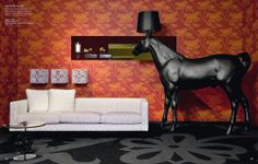 Not to get on my high horse, but I like the wallpaper. (Marcel Wanders lamp)