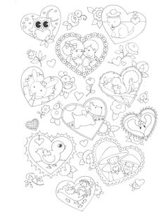 Click the image to download and print this Mary Engelbreit Valentine's Day coloring page!