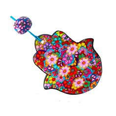 Hamsa -wall hanging - Judaica Hamsa -special gifts -howseware - polymer clay - handmade