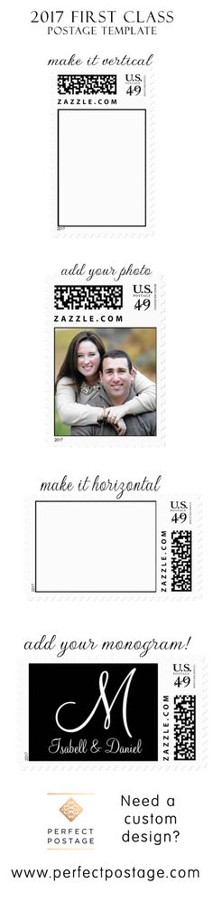 2017 First Class Custom Postage Template