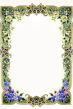 Borders For Paper, Borders And Frames, Illuminated Letters, Illuminated Manuscript, Wedding Invitation Background, Frame Border Design, Pyrography Patterns, Picture Frame Decor, School Frame