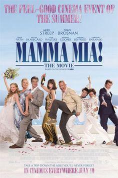 Mamma Mia! (2008)  Excelente  musical, com a trilha sonora com musicas da banda  de grande sucesso das decada de 70 - ABBA.    O  filme  foi escrito colaborativamente  por dois dos integrantes da antiga banda, e o seu titulo tem origem de uma musica de grande  sucesso  de mesmo nome.