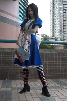 American McGees Alice Madness Returns:  Alice. I so want to cosplay this when we go to Comic-Con.