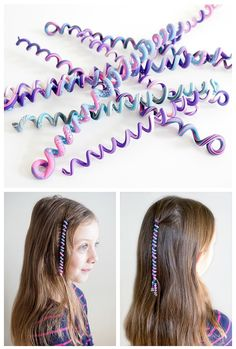 Learn how to make these quick and easy polymer clay spiral hair wraps. A great kids craft - girls will love making their own cute hair accessories.