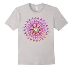 Amazon.com: Mandala Sacred Geometry Healing Spiritual T-shirt: Clothing Colorful Sacred Geometry Graphic Design Tee Yoga Mandala Healing Amethyst Crystal Inspiration