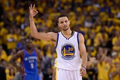 May 30, 2016 - Oakland, CA, USA - Golden State Warriors' Stephen Curry (30) gestures after making a three-point basket against the Oklahoma City Thunder during the fourth quarter on Monday, May 30, 2016, at Oracle Arena in Oakland, Calif (Photo by Jose Carlos Fajardo/Zuma Press/Icon Sportswire)