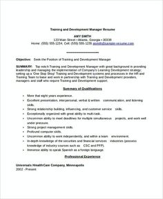 General Manager Resume Template Cover Letter  Professional
