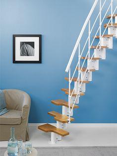 Modern interior design with spiral stairs contemporary - Escaleras espacios pequenos ...