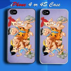The Flintstones Family Custom iPhone 4 or 4S Case Cover