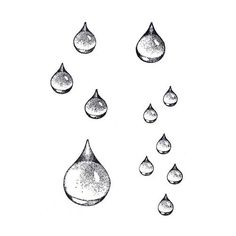 Inspiration for drawing raindrops Raindrop Set (CM-T10) ~ Four Pieces haben will ;o)