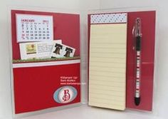 Clear Mount Stamp Case Notefolio by Barb Mullikin