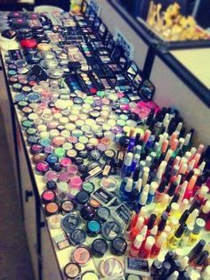 I want this much makeup.