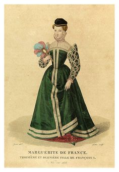Margarita of France 1523 third+last daughter of Francis I. via Flickr. Elizabethan Fashion, Tudor Fashion, Elizabethan Era, Edwardian Fashion, Vintage Fashion, Historical Costume, Historical Clothing, Margarita, 1500s Fashion