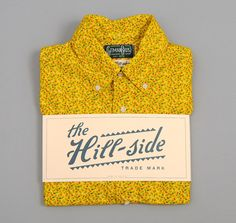 THE HILL-SIDE SHORT-SLEEVE SHIRT, AMERICAN CALICO FLORAL PRINT, YELLOW :: HICKOREE'S