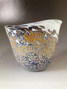 Hand Blown Glass Bowl by HorkoverGlass on Etsy, $42.00