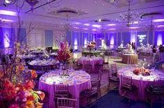 Lighting and table decor.
