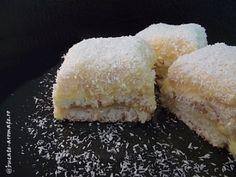 Prăjitura asta cu nucă de cocos e una dintre cele mai bune pe carele ştiu. Epufoasă, cremoasă, ce mai, e delicioasă de te lingi pe degete şi la propriu şi la figurat. Imaginaţi-vă blatul de Vanilla Cake, Coco, Food And Drink, Sugar, Desserts, Drinks, Kitchen, Pies, Recipes