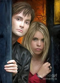 Who Art Print featuring the digital art Tenth Doctor And Rose by Dori Hartley Doctor Who Funny, Doctor Who Quotes, Good Doctor, Twelfth Doctor, Eleventh Doctor, William Christopher, Doctor Who Wallpaper, Rose And The Doctor, David Tennant Doctor Who