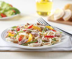 Lemon Pepper Tuna Over Pasta