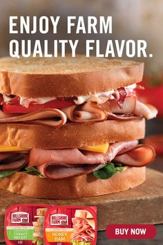 Enjoy premium sliced deli meat at home with Hillshire Farm Sliced Deli Lunch Meat—whether you're building a classic ham and cheese sandwich or a double-decker turkey club. Honey Ham, Ham And Cheese, Turkey Breast, Oven Roast, Quick Easy Meals, Hot Dog Buns, Lunch, Dinner, Deli