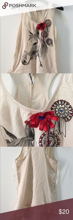 Horse top If you love horses this is for you, brand new. Tops Tank Tops