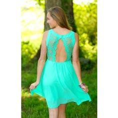 I've Got Your Back Dress-Mint - $48.00