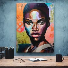 African-American Woman art, Beauty Woman, African Art, Canvas decoration for living room, Home Black Women Art, African American Women, Home Wall Art, Beautiful Artwork, Contemporary Paintings, African Art, Female Art, Vector Art, Photo Art