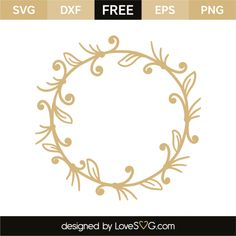 *** FREE SVG CUT FILE for Cricut, Silhouette and more *** Wreath