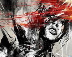 Russ Mills Illustration - Every good painter paints what he is. Hatsune Miku Vocaloid, Paar Illustration, Graphic Illustration, Urbane Kunst, Mary Cassatt, Ouvrages D'art, Abstract Drawings, Abstract Portrait, Abstract Art