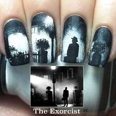 halloween The EXORCIST by jamylyn_nails #nail #nails #nailart