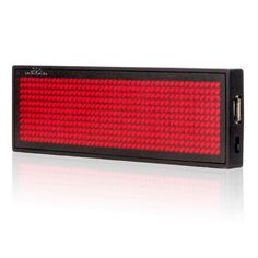 10pcs 11 x 44 pixels Red Color LED Name Badge Programmable Message Sign Board Support Arabic etc Multinational language
