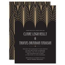 13 Best Jazz Invitation Images Art Deco Wedding Invitations Deco