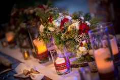 We are loving the details of this rustic chic reception at Fort Wilderness Pavilion
