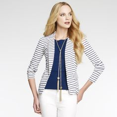 40+ Fashions - How To Wear A Shorts Suit Striped Blazer Busbeestyle.com