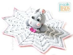 Happy Hippo the Hippopotamus Snuggle Blankey Security Blanket PDF Crochet Pattern by @IraRott