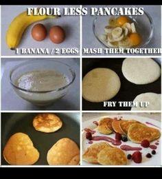 Flowerless pancakes