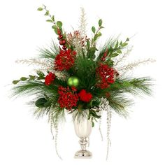 I pinned this Faux Holiday Floral Arrangement from the Holiday Cheer event at Joss and Main!