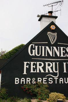 Guinness sign on pub in shannonbridge Ireland