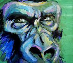 Resultado de imagen para cuadros de gorilas