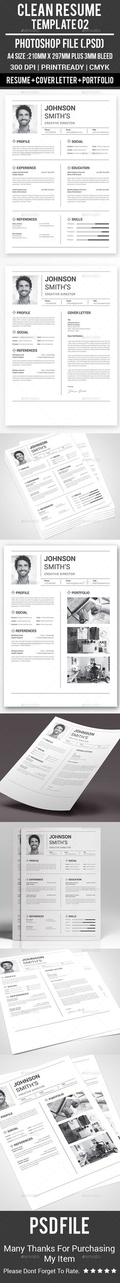 Clean Resume Templates Fonts, Template and Gray - photoshop resume templates